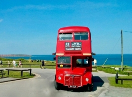 Classic Red Bus for weddings in London